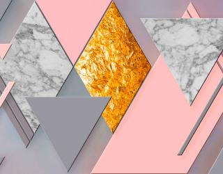 Фотообои Розово-серая геометрия 20051