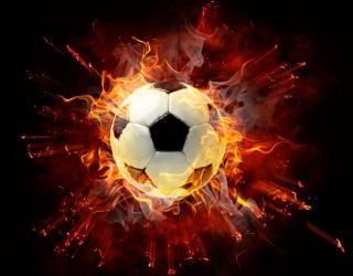 Фотообои Мяч в огне 12920