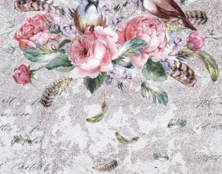 Фотообои Яркие цветы на фоне бетона 20070