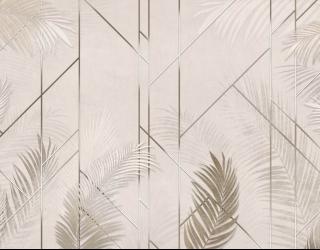 Фотообои Геометрия и пальмовые ветки 28173