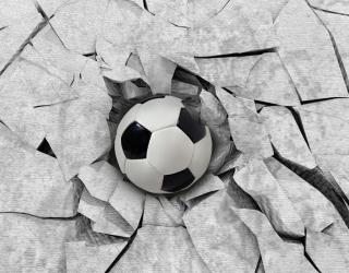 Фотообои Футбольный мяч 3Д 22128