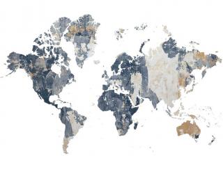 Фотообои Карта мира на белом 28187