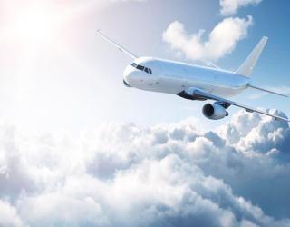 Фотообои Самолет в небе 0952
