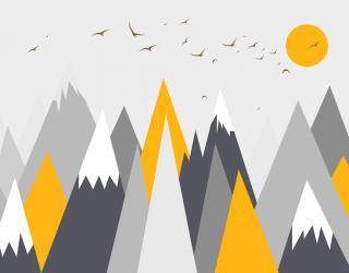 Фотообои Оранжевые горы 24077