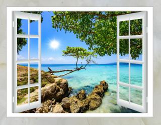 Фотообои Вид из окна на море 20242