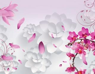 Фотообои 3D цветы  18133