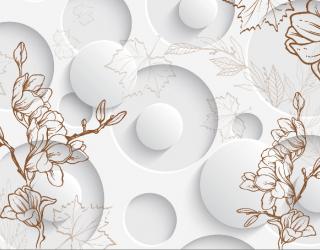 3д фотообои 3D цветы  15752