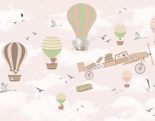Фотообои Воздушные шарики для девочки 24056