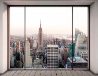 Фотошпалери Вид з вікна в мегаполіс 20000