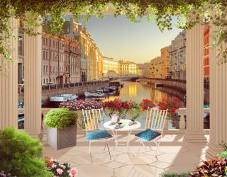 Фотообои Фреска канал в венеции 23920