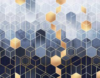 Фотообои Разноцветные шестиугольники 28683