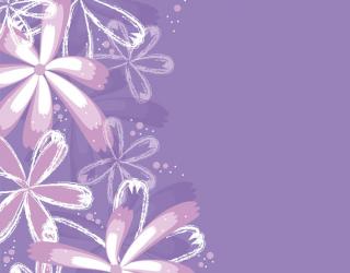 Фіолетові квіти векторні 14832