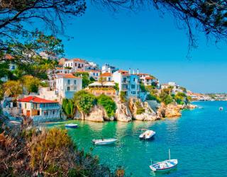 Фотообои Городок в Греции 5884