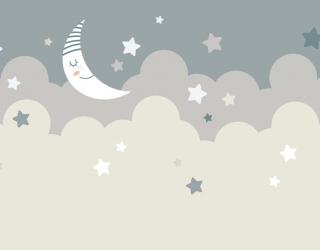 Фотообои Зведное небо и месяц 24059