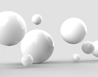 Фотообои белые гладкие шары 21609