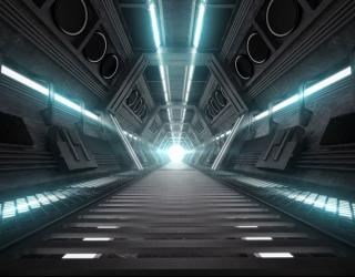 Фотообои Техно тоннель 22750