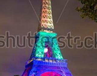 Фотообои Эйфелева башня 436847641