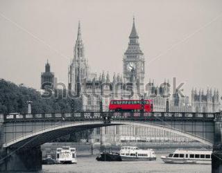 Фотообои Биг - Бен,  мост, автобус 339162584