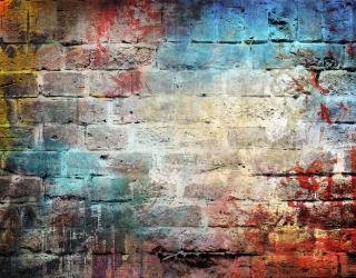 Фотообои Разноцветная кирпичная стена 20217
