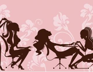 Фотообои Векторные девушки в салоне красоты 15291