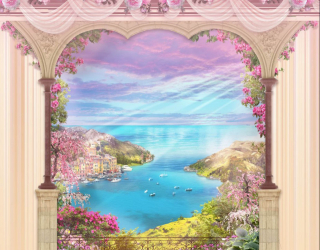 Фотообои Вид на море из окна 28046