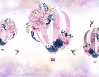 Фотообои Розовые воздушные шары 23058