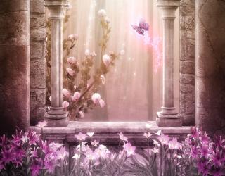 Фотообои Розовый замок 22858