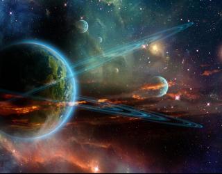 Фотообои кольца вокруг Земли 21173