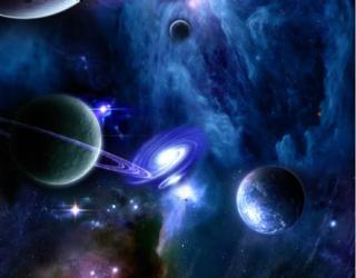 Фотообои Синий космос 28938