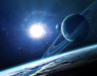 Фотообои планеты и сияние 21116