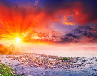 Фотообои Закат на реке 0494