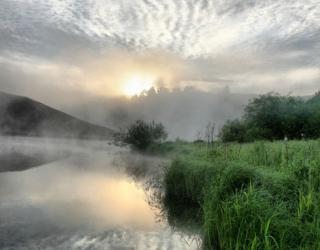 Фотообои Туман на реке 12575