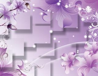 Фотообои 3D цветы  16995