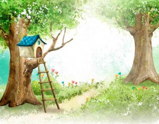 Фотообои Домик на дереве 4741