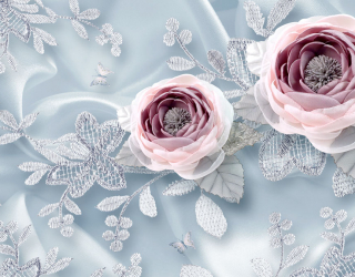 Фотообои Тканевые 3д цветы 20196