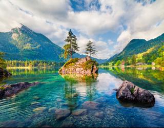 Фотообои Озеро в горах 22814