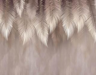 Фотообои Дизайнерские листья коричневые 26169