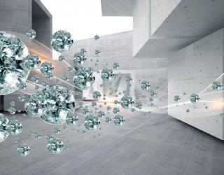 Фотообои 3д тоннель с бриллиантами 22997