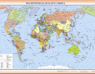 Фотообои Политическая карта мира 22610