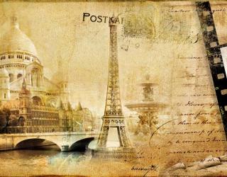 Фотообои Париж винтаж 3437