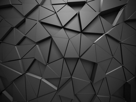 Фотообои Черная 3д стена