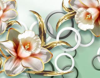 Фотообои 3D цветы  18795