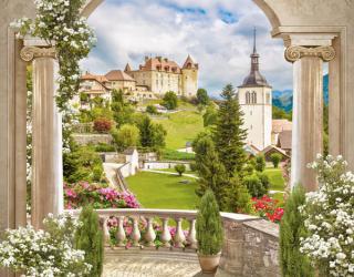 Фотообои Арка с видом на замок 22403