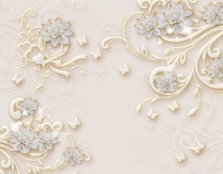 Фотообои Керамические цветы с узорами 22447