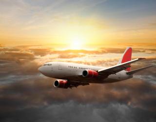 Фотообои Самолет в небе 0951