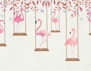 Фотообои Фламинго на качелях 22084