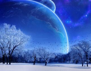 Фотообои Зимний космос 22584