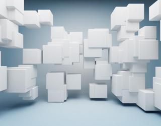 Фотообои Белые кубики 3Д 20504
