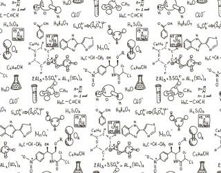 Фотообои Паттерн для кабинета химии 19726