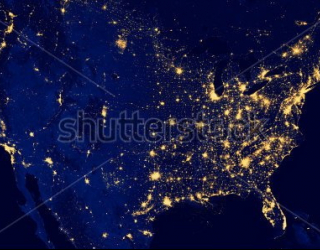 Фотообои Ночная земля 255471409